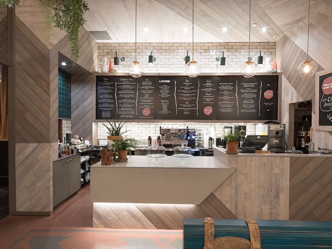 The Front desk of Natura Cafe at Dream Downtown New York