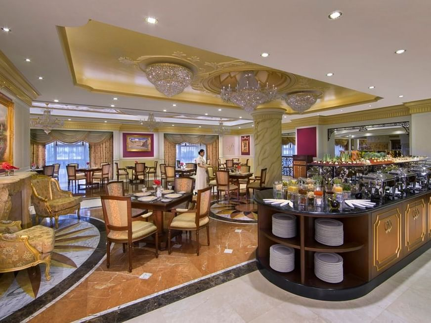 مطعم Printania في فندق رويال روز في أبو ظبي، الإمارات العربية المتحدة