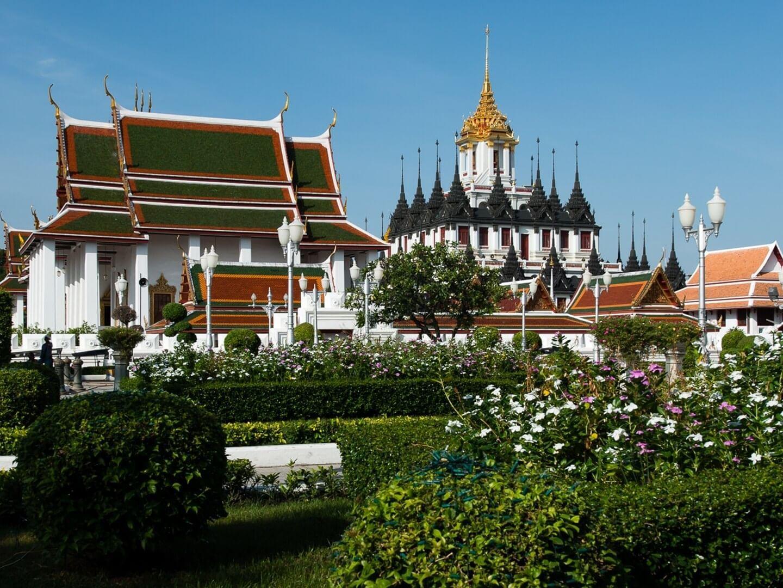 Wat Ratchanatdaram Woravihara (Loha Prasat) near Chatrium Hotel Riverside Bangkok