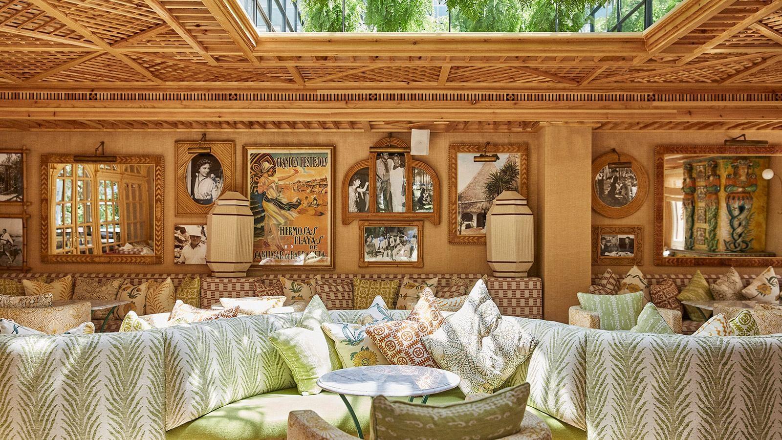 Interior of El Patio Restaurant at Marbella Club Hotel