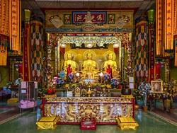 Inside of Wat Mangkon Buppharam near Chatrium Golf Resort Soi Dao Chanthaburi
