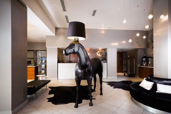 A lobby at Sandman Signature Newcastle hotel