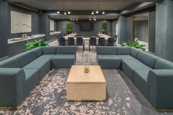 Hi-Lo hotel conference room with mixed seating