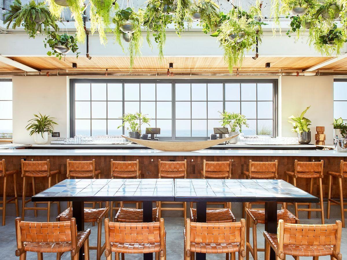 Seating area at  Rooftop bar in Rockaway Hotel