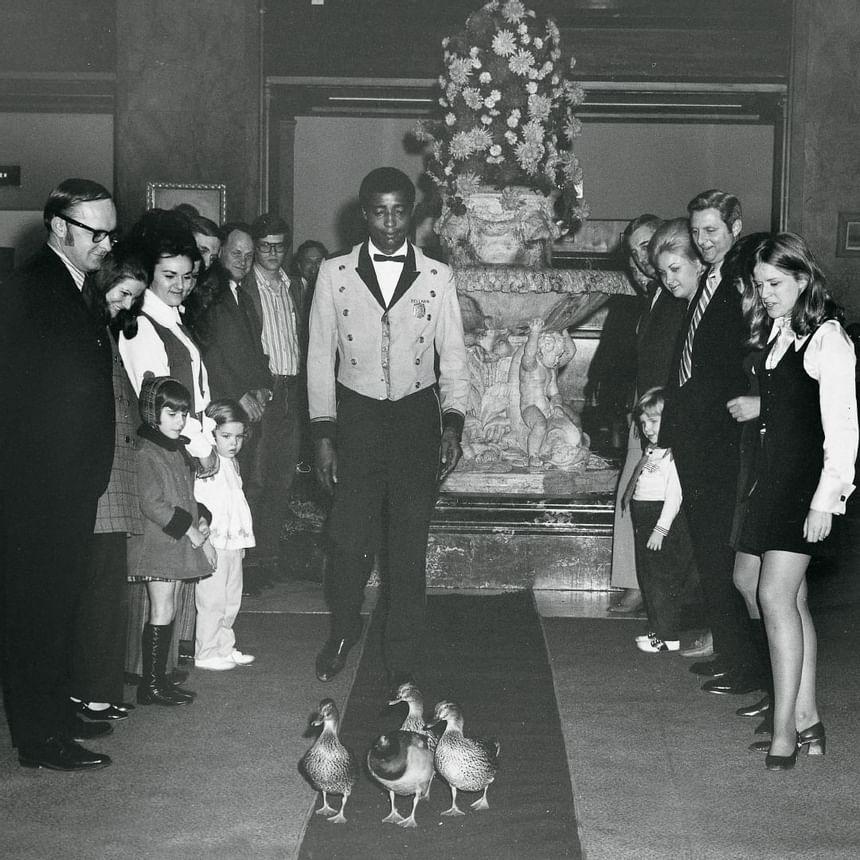 1968 image of Peabody Ducks at Peabody Hotels & Resorts