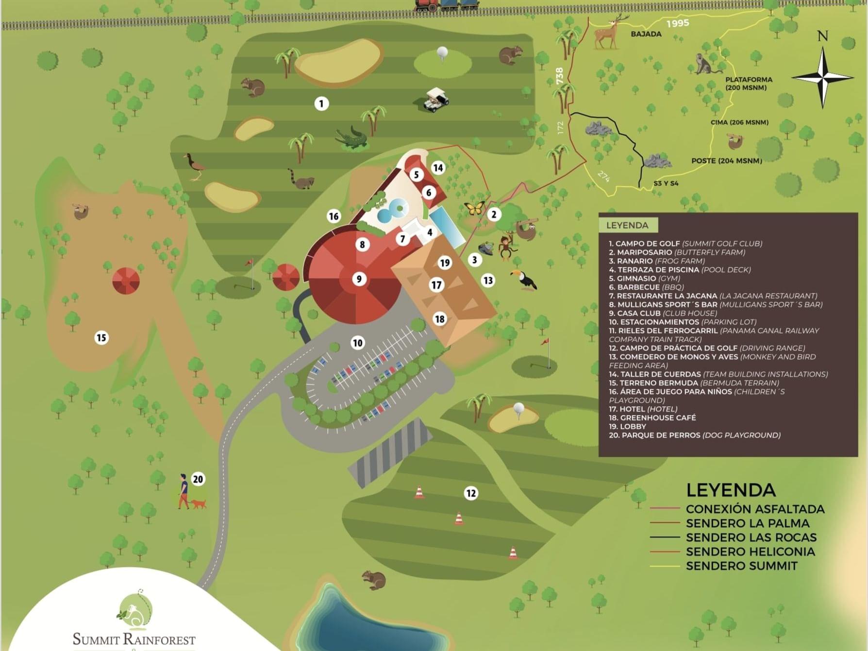 Mapa del hotel