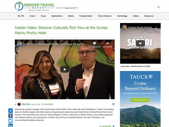 Imagen con video donde se dan algunas informaciones del hotel