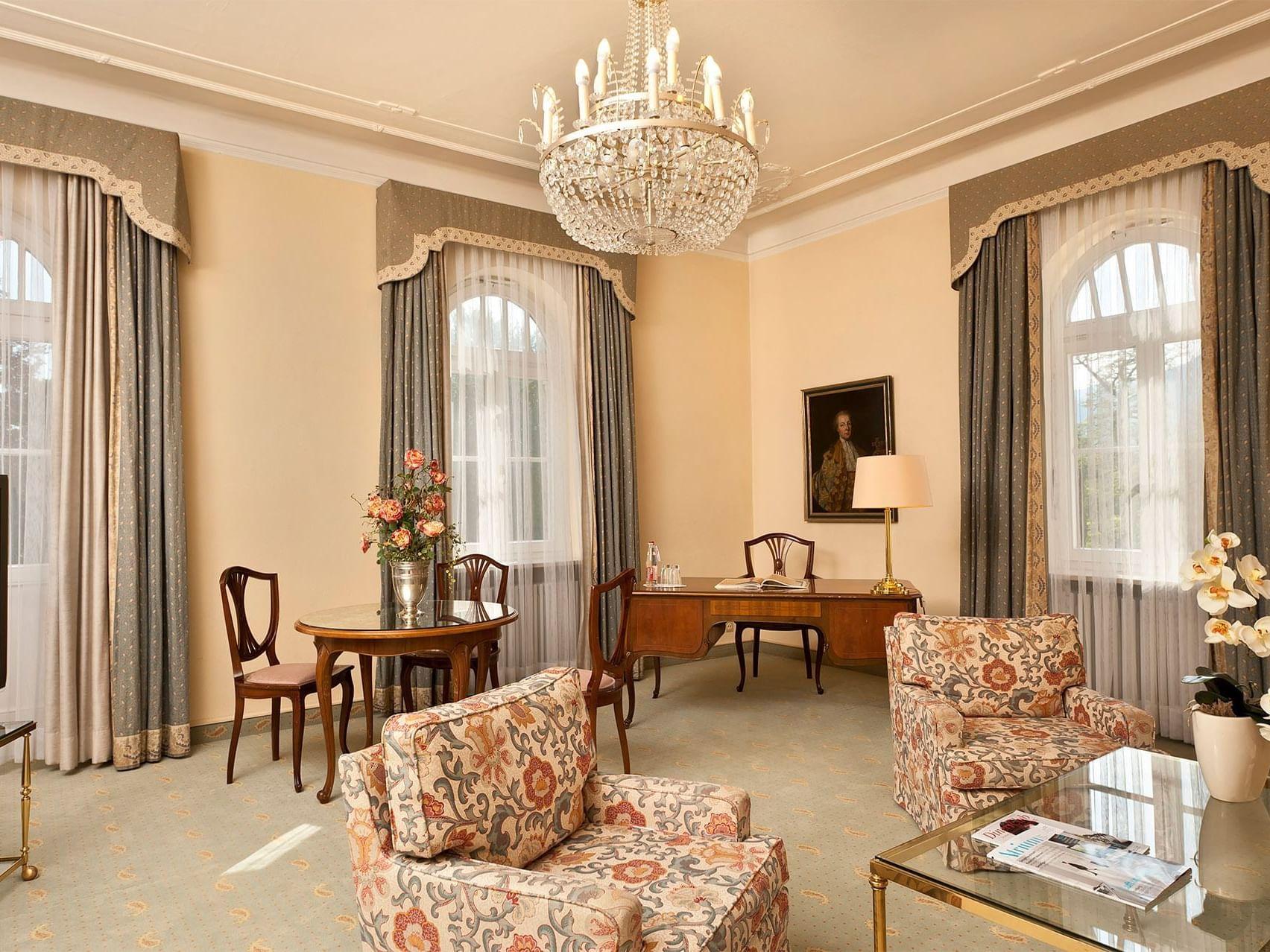 Family Apartment Living Room at Precise Bad Reichenhall Bavaria
