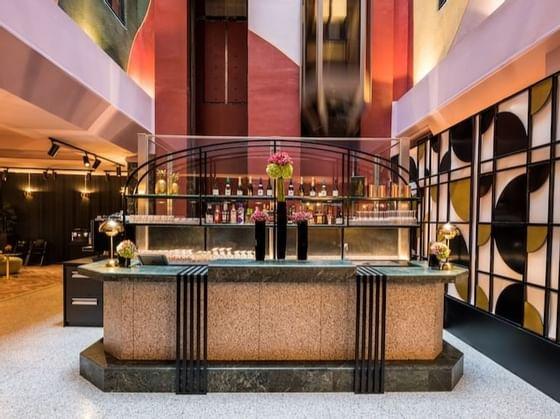 Bar at Hotel Hubert Brussels near Grand Place