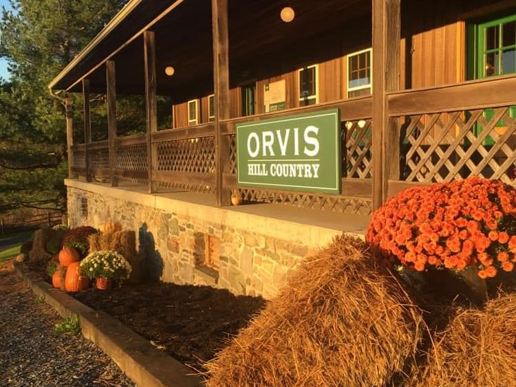 building that says orvis hill country