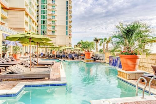 outdoor pool at Ocean Beach club