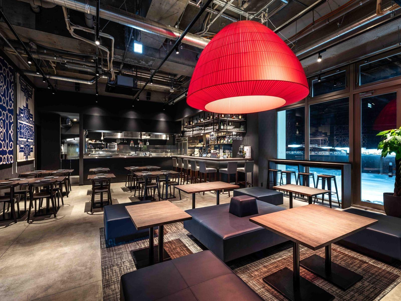 Dine area of Temporada Tapas Bar at Chatrium Niseko Japan