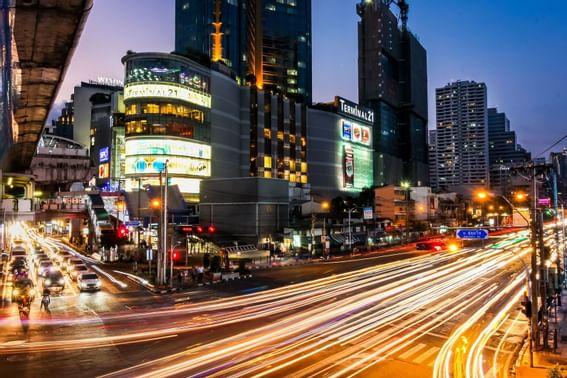 Cityscape view of Bangkok at night near Dream Thailand Bangkok