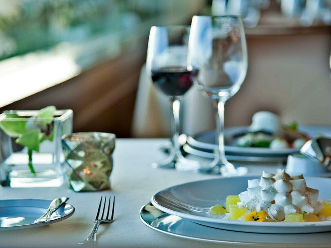 Breakfast table at Hotel Cascais Miragem