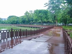 Walkway at Kandawgyi Nature Park near Chatrium Hotel Royal Lake Yangon
