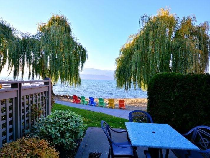 Outdoor area in the Three Bedroom Beachfront Villa at Manteo Resort
