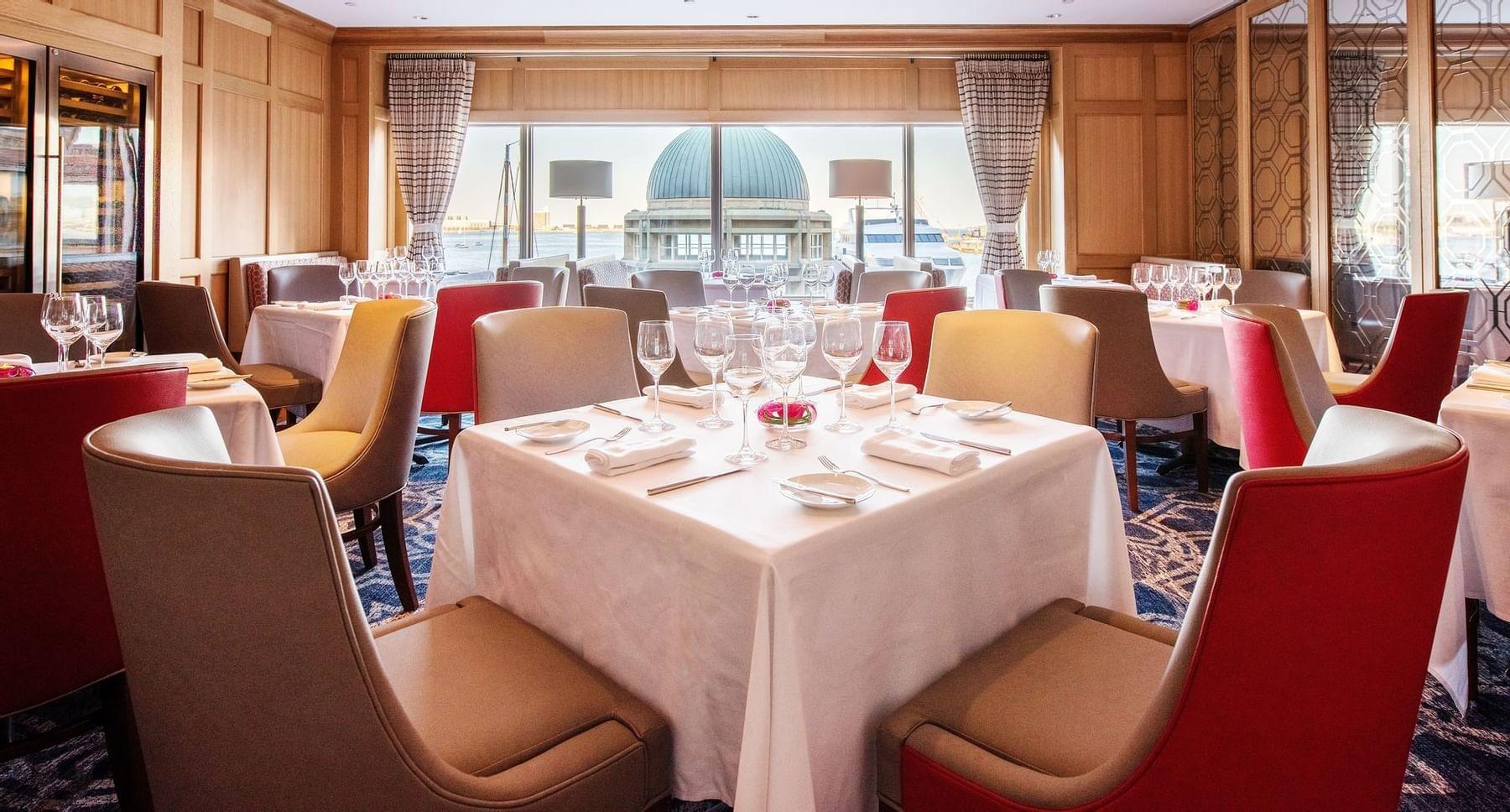 Sonoma dining room in Boston Harbor Hotel
