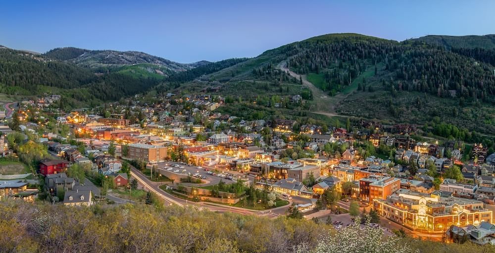 Park City Old Town in Summer