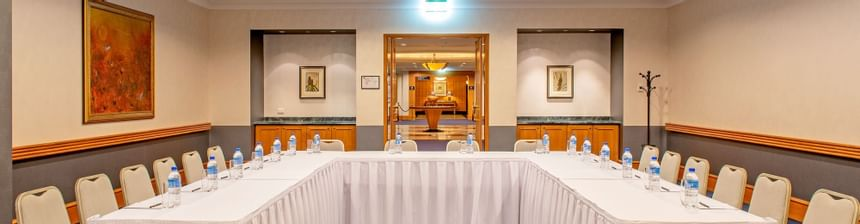A view of the conference room at the Duxton Hotel Perth