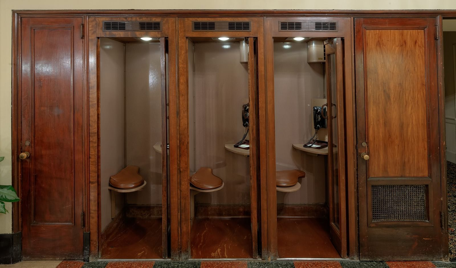 Vintage Phone Booths at The Peabody Memphis