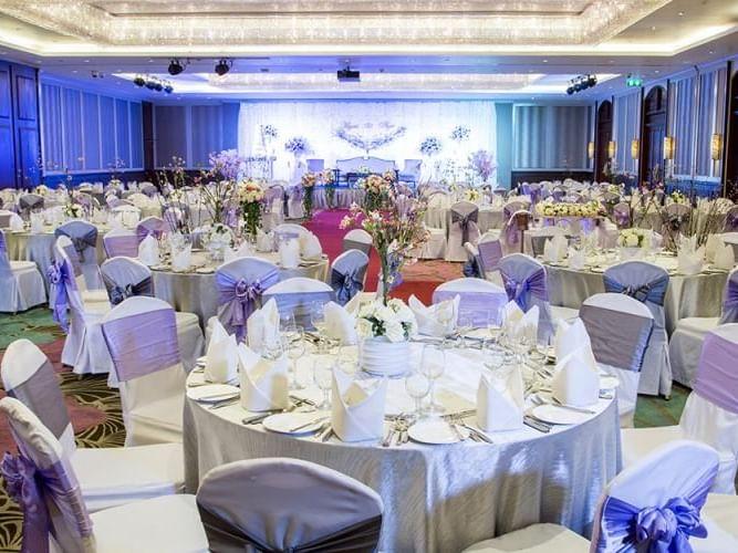 Wedding layout of Grand Ballroom at Chatrium Hotel Royal Lake