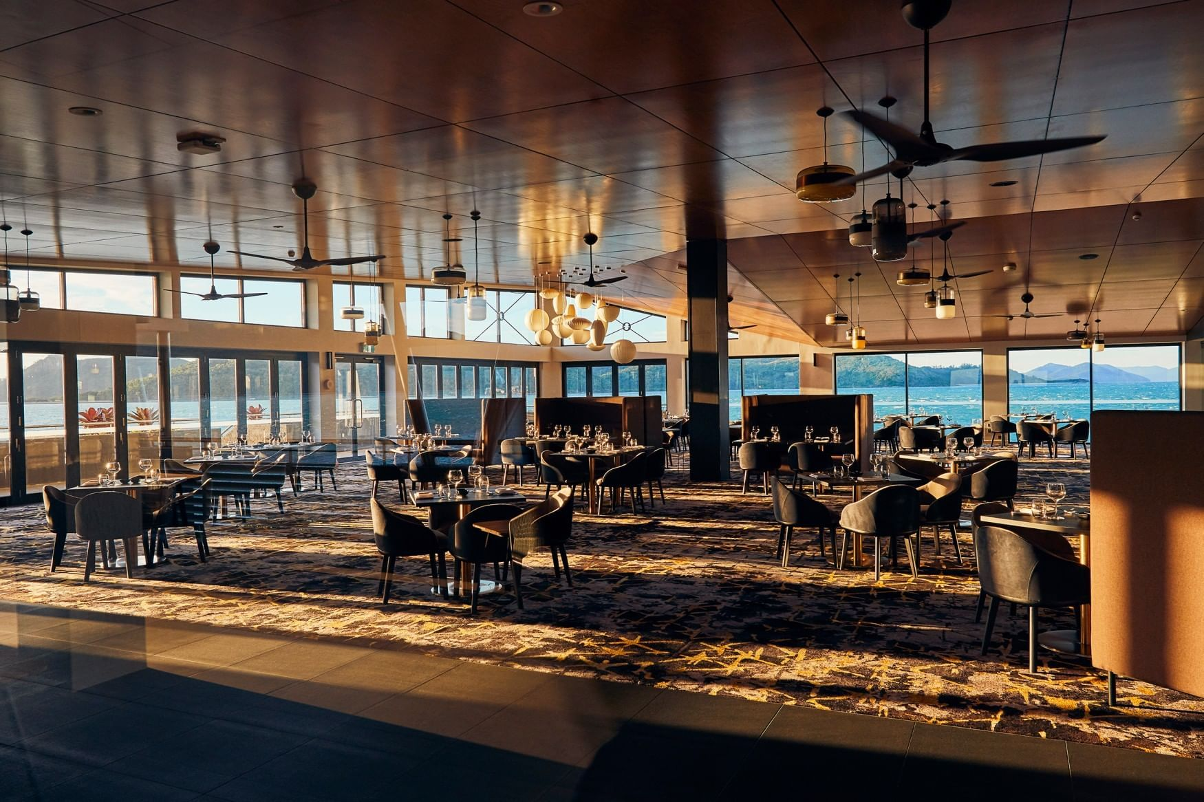 Infinity Restaurant with ocean view at Daydream Island Resort