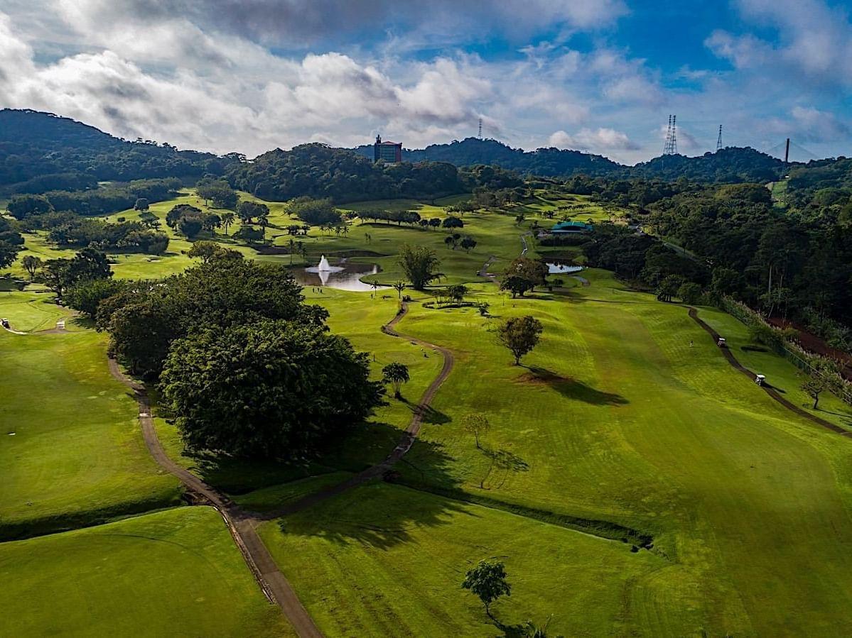 Vista Arial del campo de golf