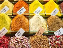 Spices at the Spice Bazaar near CVK Hotels