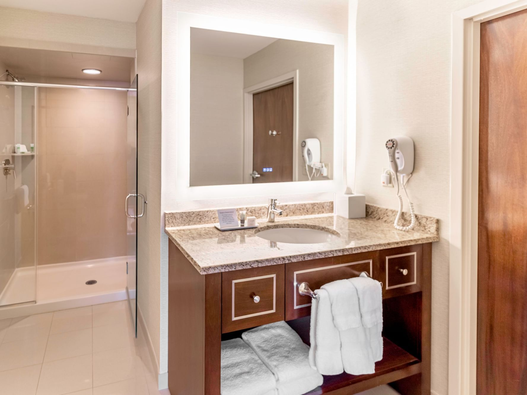 Bathroom in the King Suite at New Haven Hotel