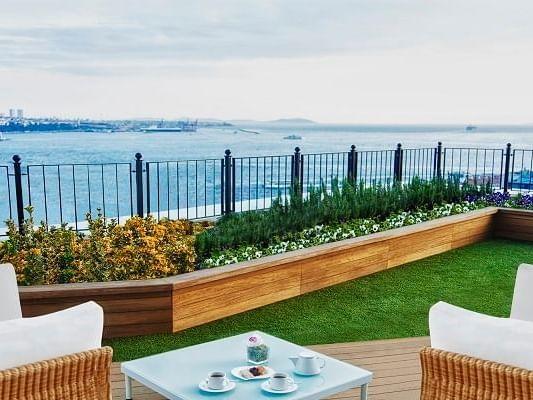 Terrace area at CVK Park Prestige Suites