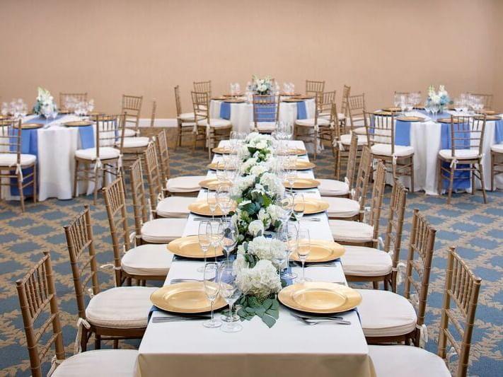 Regency Ballroom arranged for a wedding at Westford Regency
