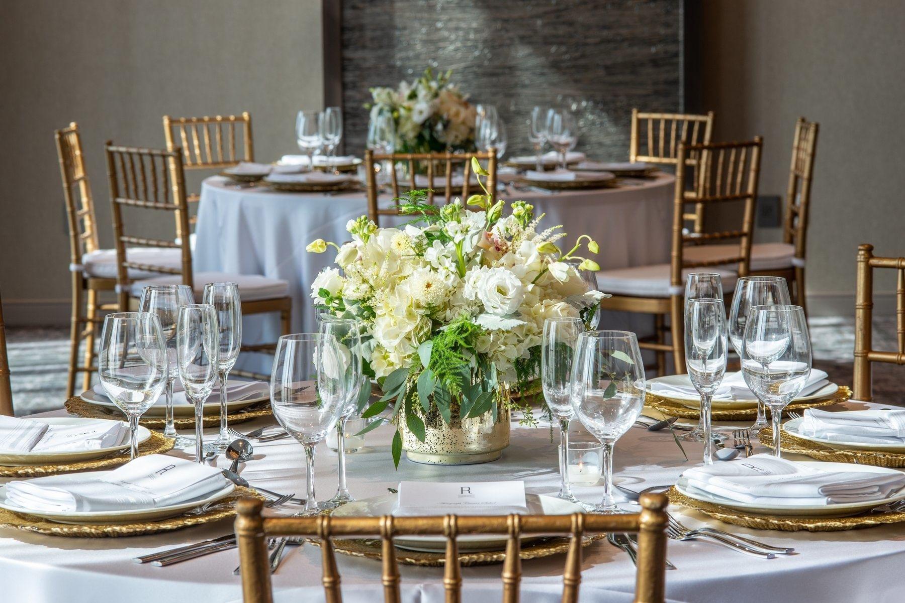 Wedding Venues Table Set up