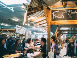 Old Strathcona Farmer's Market near Metterra Hotel on Whyte