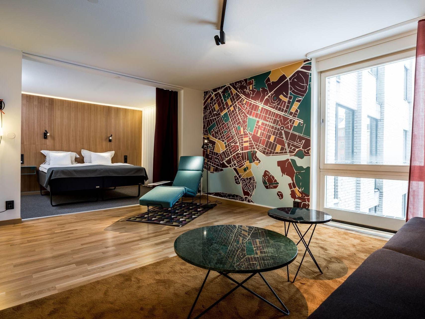 Junior Suite at Hotel Birger Jarl in Stockholm, Sweden