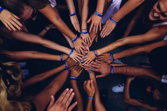 Hands in a huddle