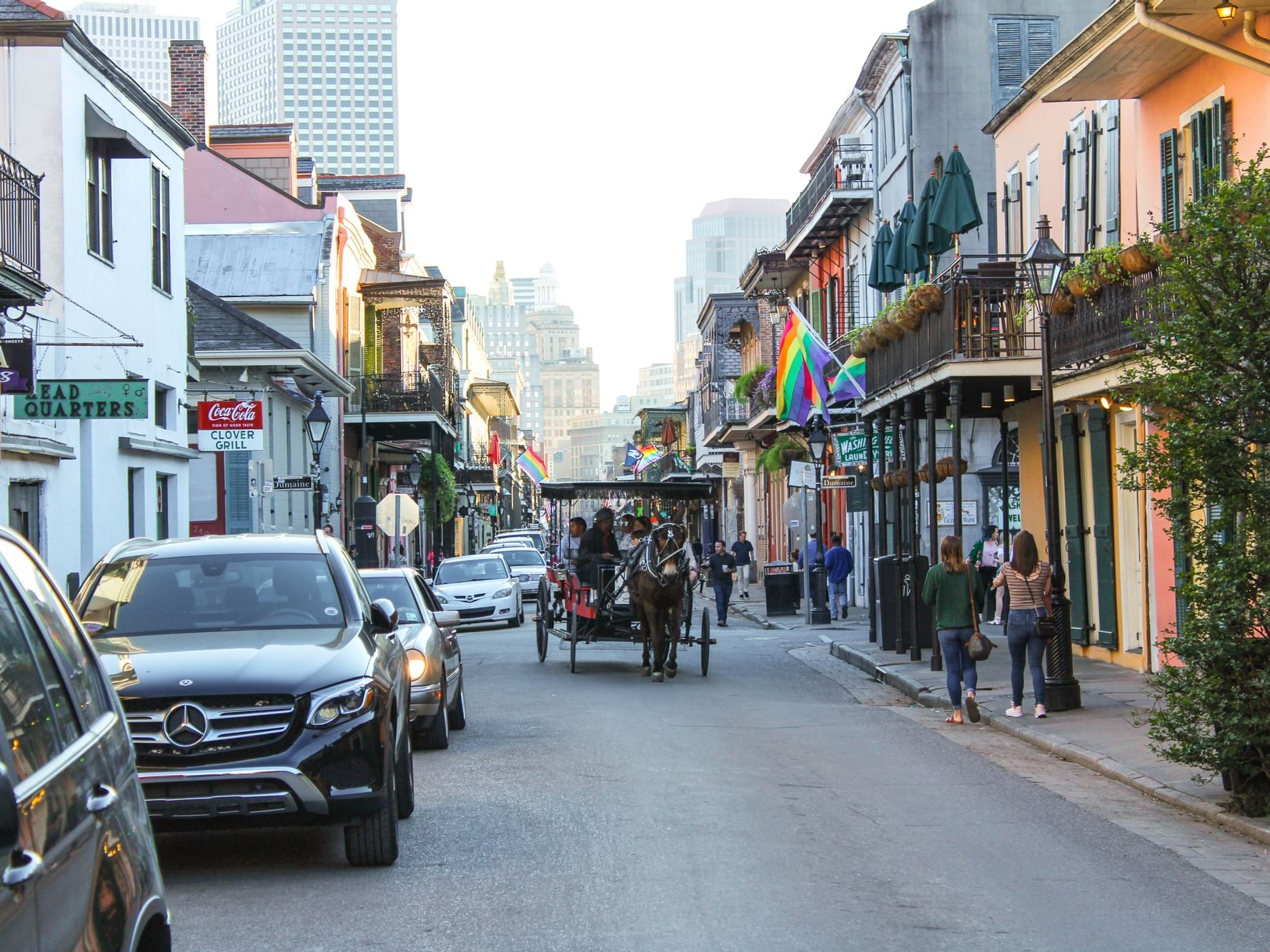 Streets at the French Quarter near the hotel