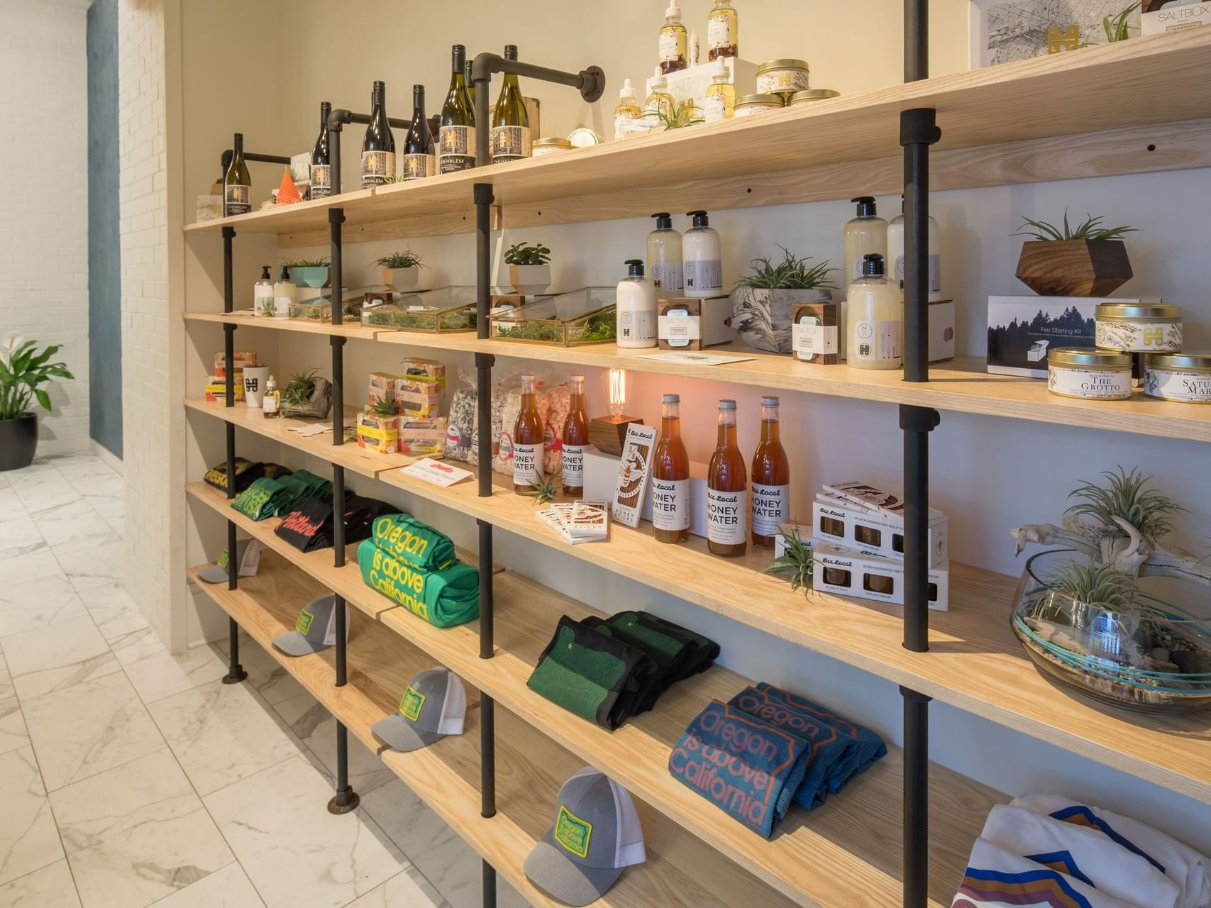 The Merchant product shelves