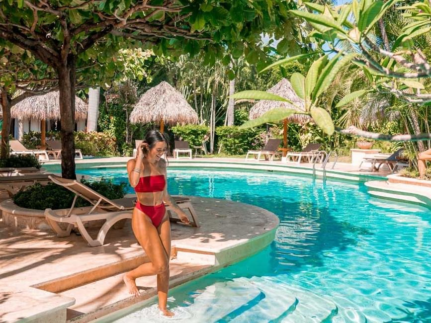Pool at Jardín del Edén Hotel in Tamarindo, Costa Rica