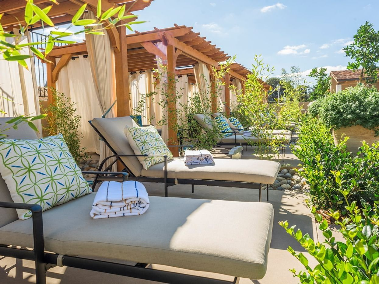 Cabana and Lounge Chairs Poolside