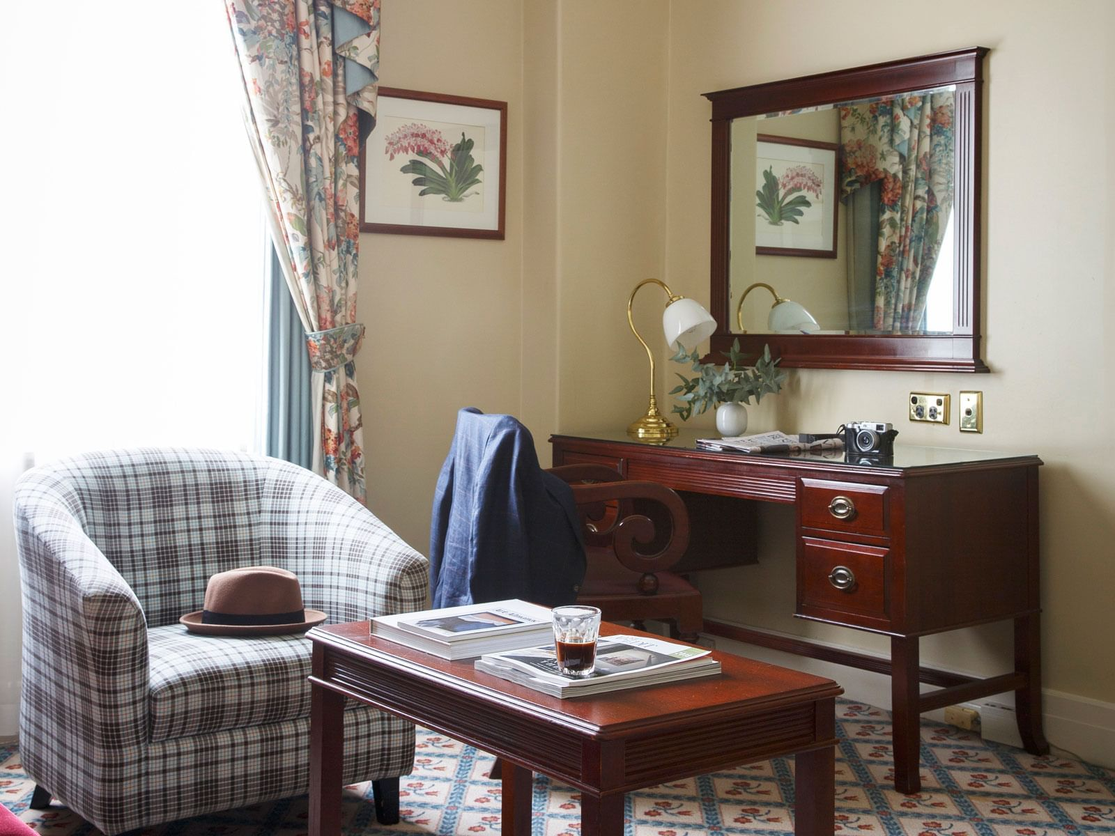 Junior Suite Living Room at The Hotel Windsor Melbourne