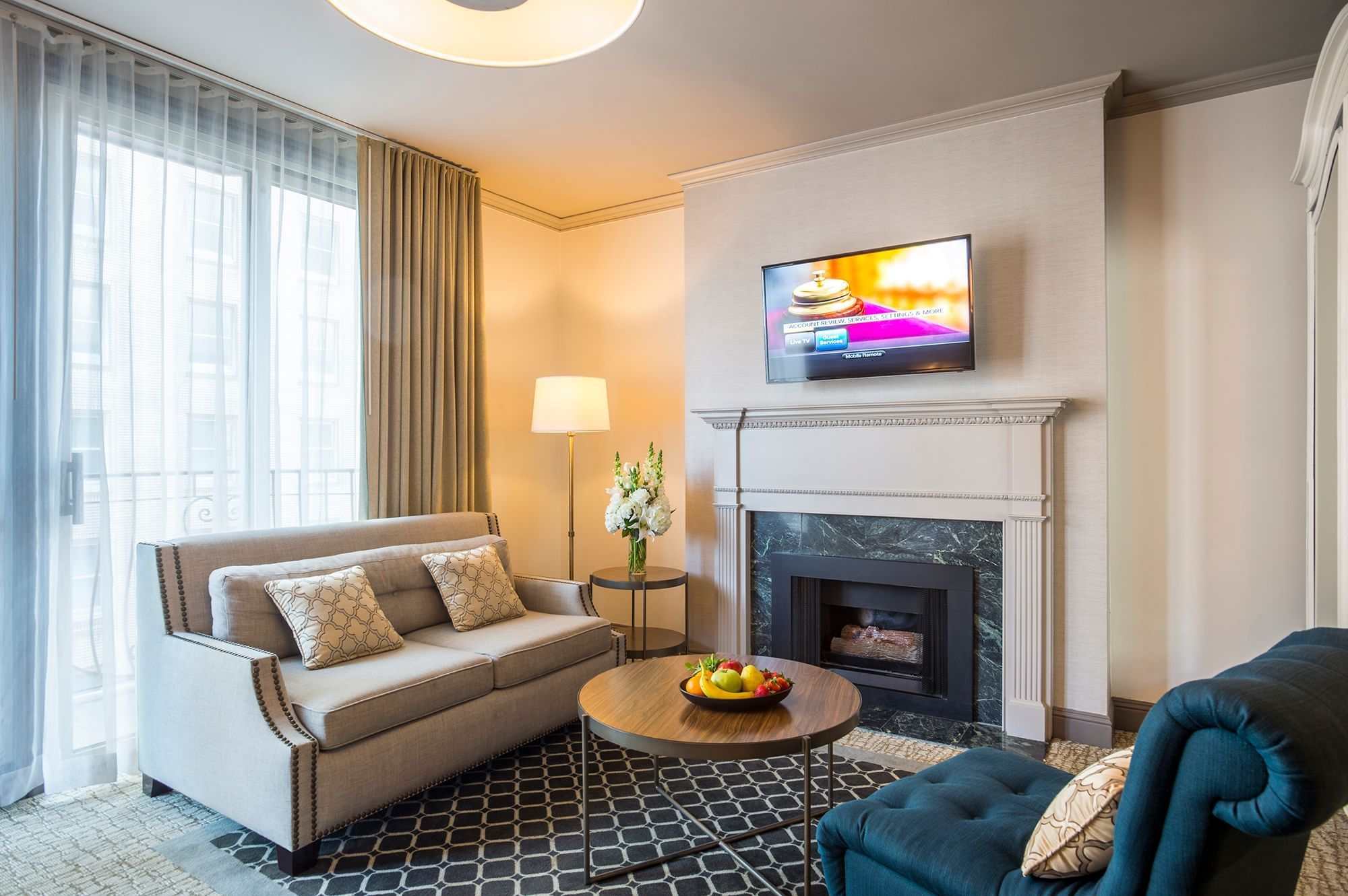 Balcony Suite Fireplace