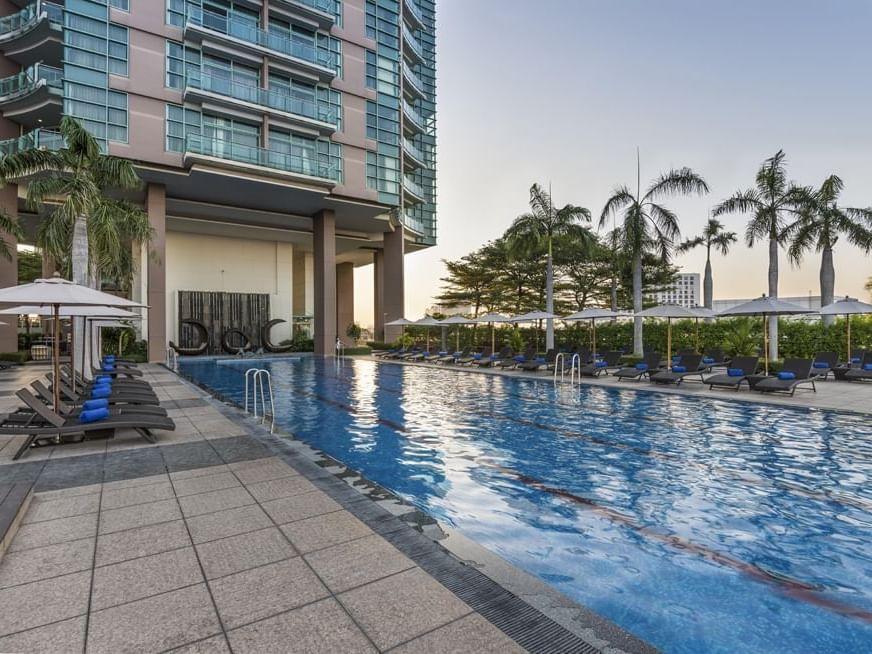 View of Swimming Pool at Chatrium Hotel Riverside Bangkok