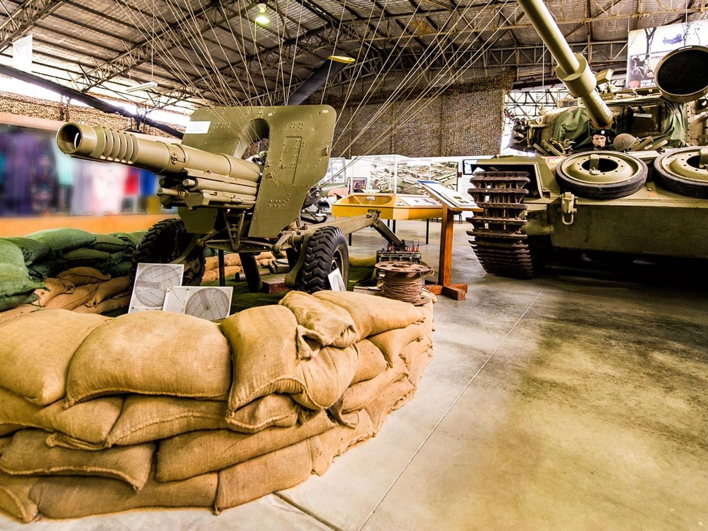 Inside of Vietnam Veterans Museum near Silverwater Resort