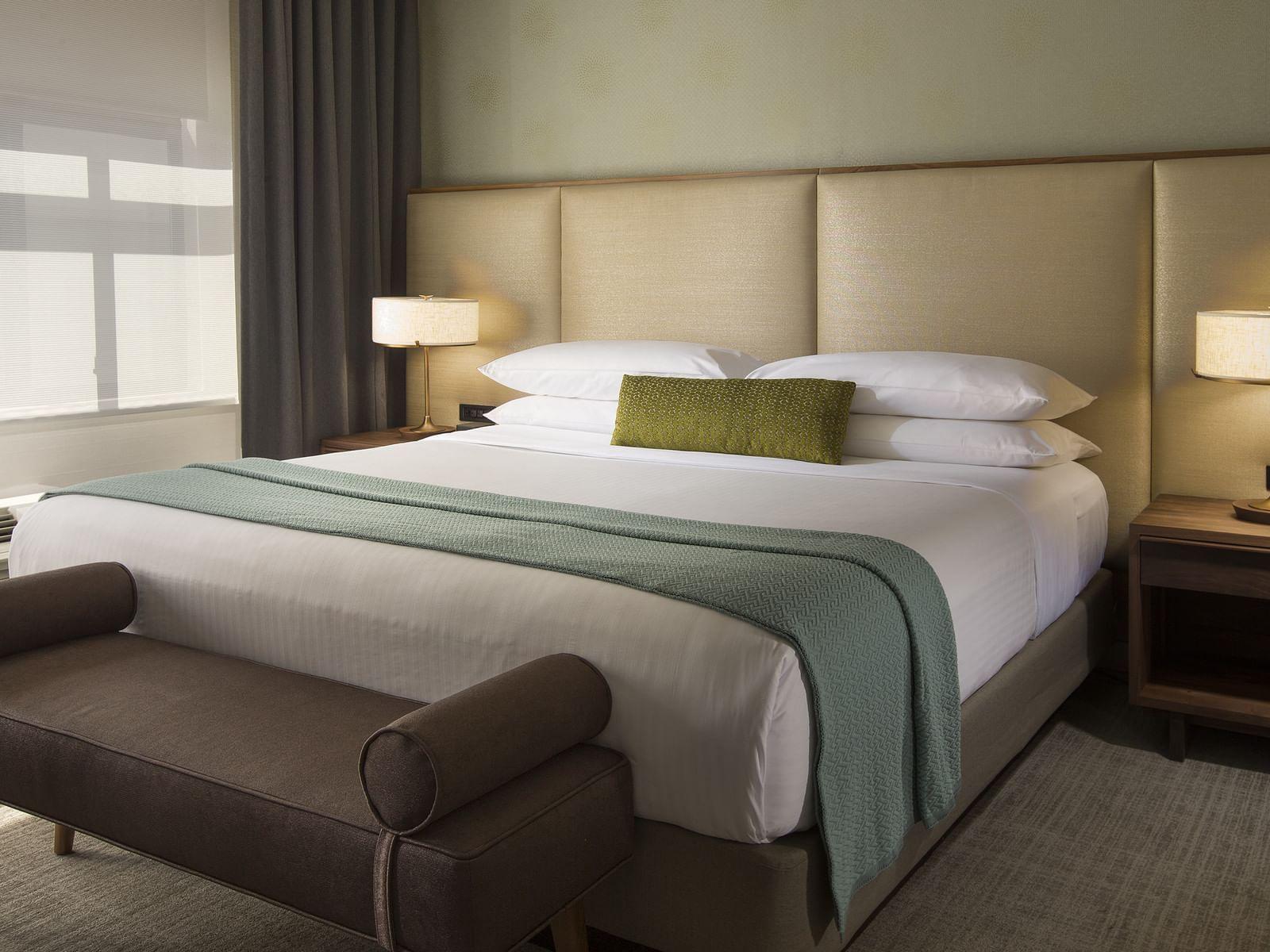 Bedroom of Cosmopolitan at Paramount Hotel Seattle