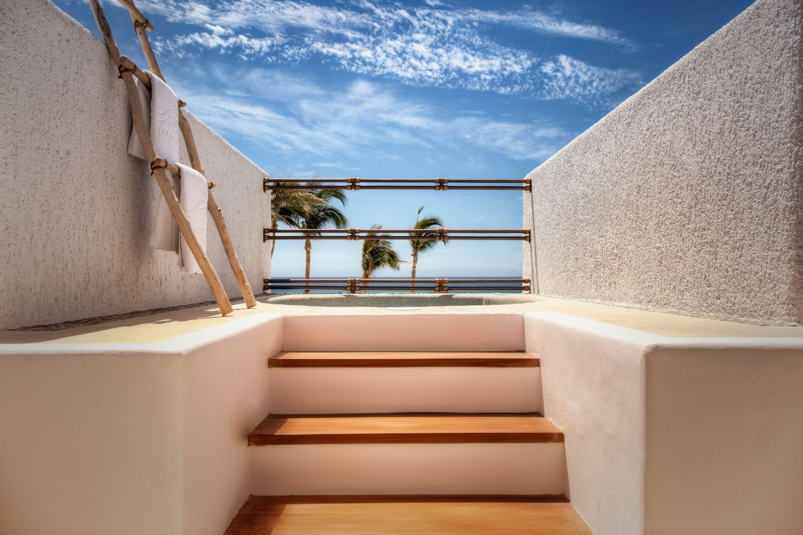 Stairs leading to an ocean view - Marquis Los Cabos