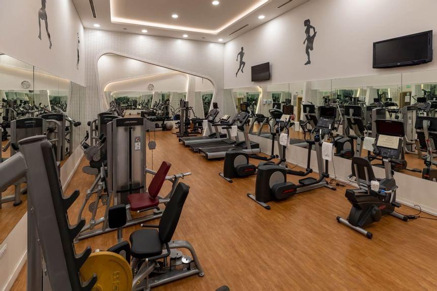 Equipment in Fitness Gym in Sealine Beach Resort