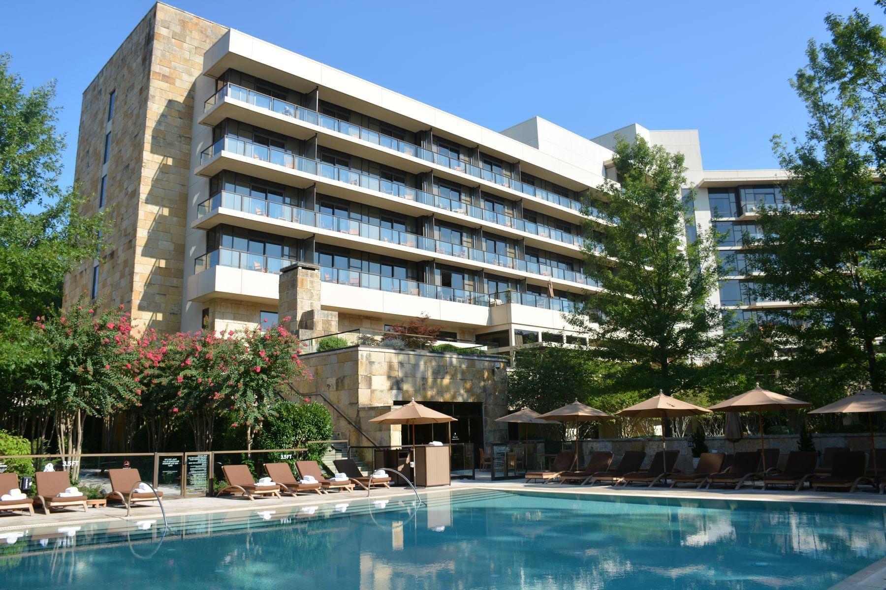 poolside of hotel
