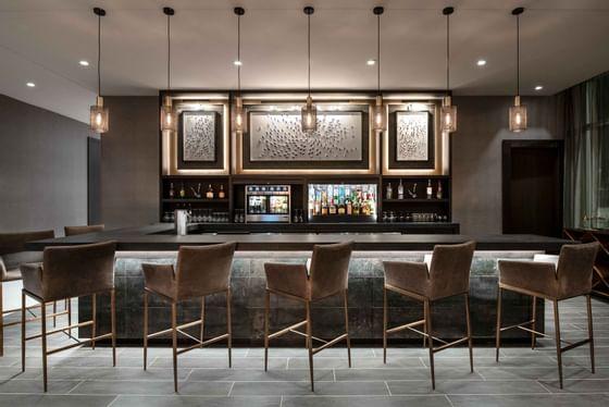 bar stools at modern bar