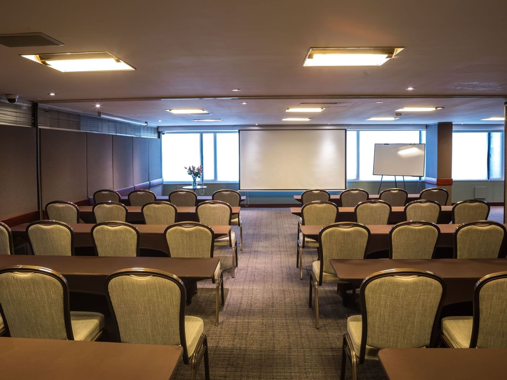 Chicó meeting room arranged for an event at Bogota Plaza Hotel