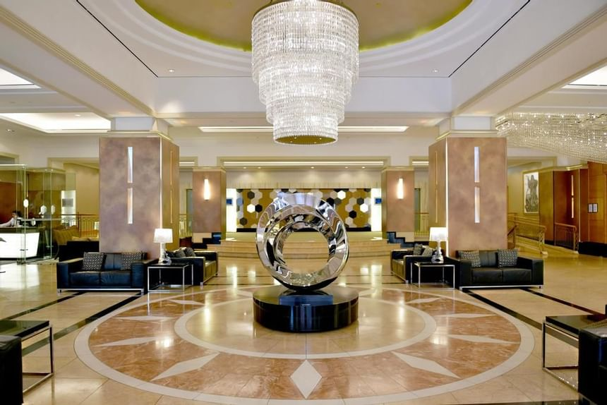 A view of the lobby at the Duxton Hotel Perth
